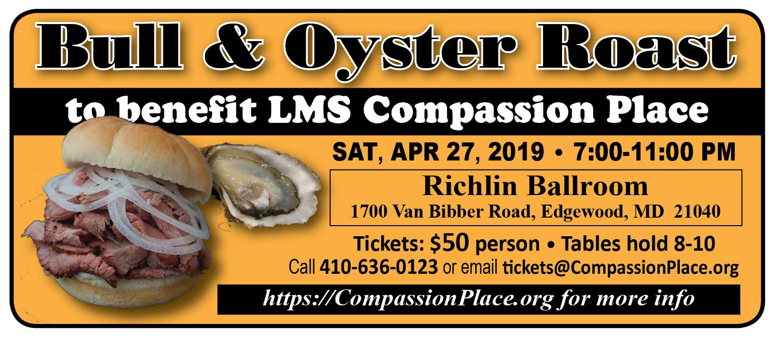 Bull & Oyster Roast to Benefit LMS Compassion Place @ Richlin Ballroom | Edgewood | Maryland | United States